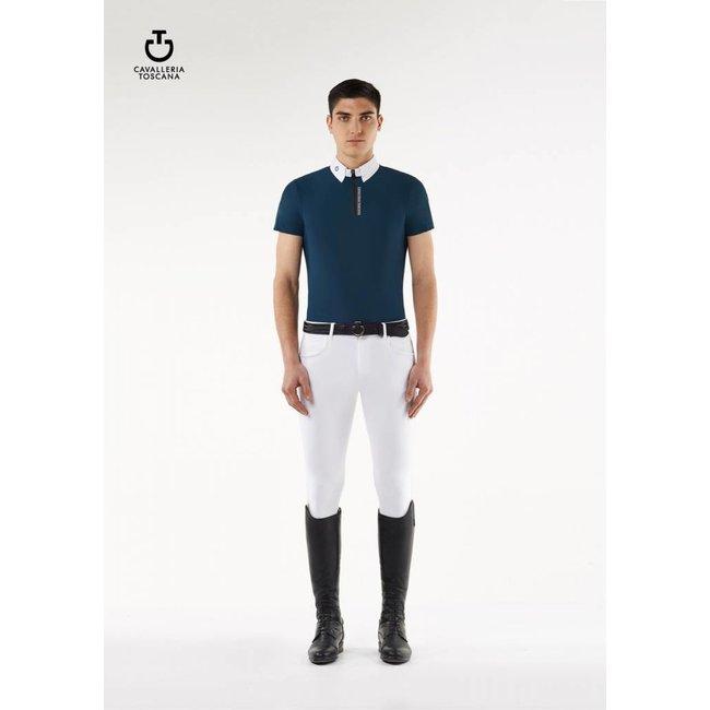 Cavalleria Toscana Wedstrijd polo shirt Navy heren