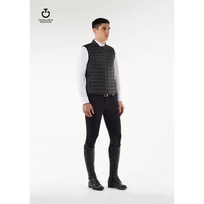 Cavalleria Toscana Nylon quilten waistcoat  GLU167 antraciet