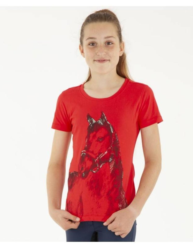 Anky Girls Horse Shirt Flaming Skarlet