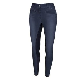 Pikeur Rijbroek Udina Grip Jeans Denim Midblue