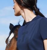 Cavalleria Toscana Tech Piqué T shirt w/ct point logo navy