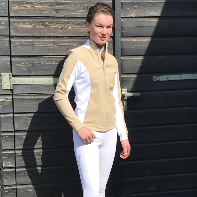 Cavalleria Toscana Sweatjacket  jersey zip w/pique insert