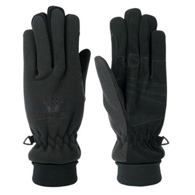 Harry's Horse Handschoen Domy Suede winter Fleece Black