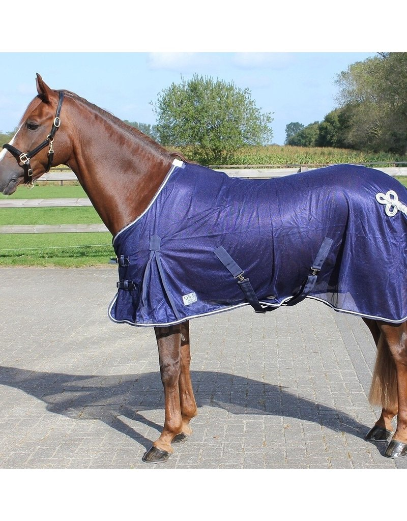 Qhp Fly Rug with Ornament