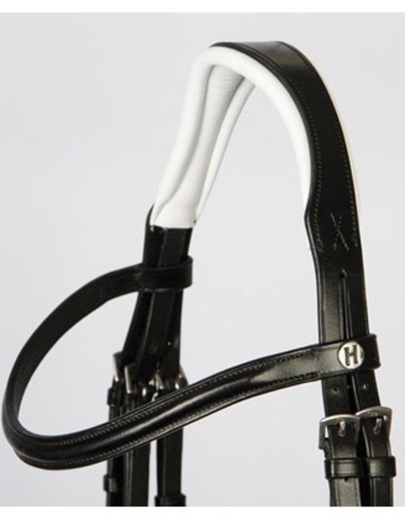 Harry Horse Hoofdstel Delicate  zwart met wit onderlegd