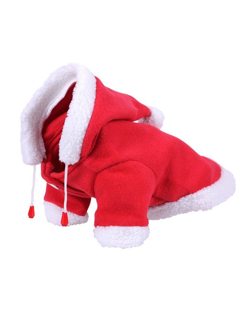 Qhp Deken Hond Kerst Rood