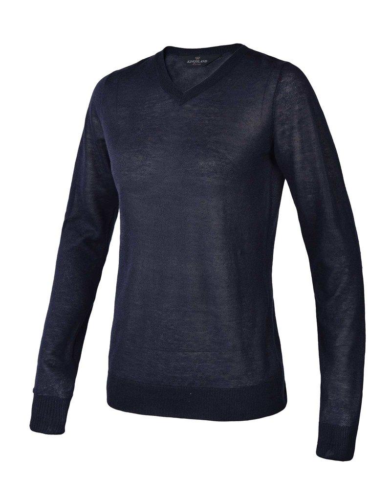 Kingsland Sweater V neck Gillian Navy