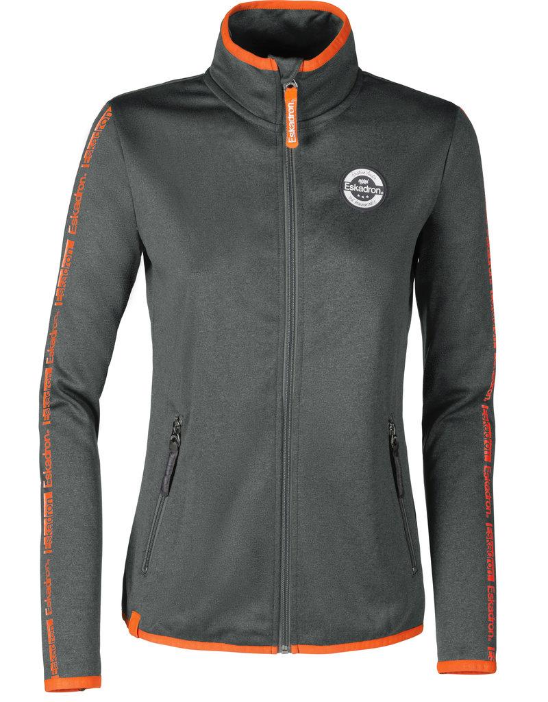 Eskadron Fleece Zip-Shirt Nicky grey orange