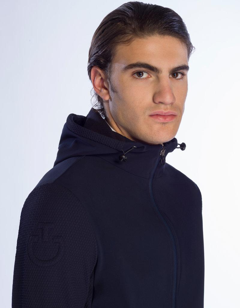 Cavalleria Toscana Embossed jersey hooded jacket