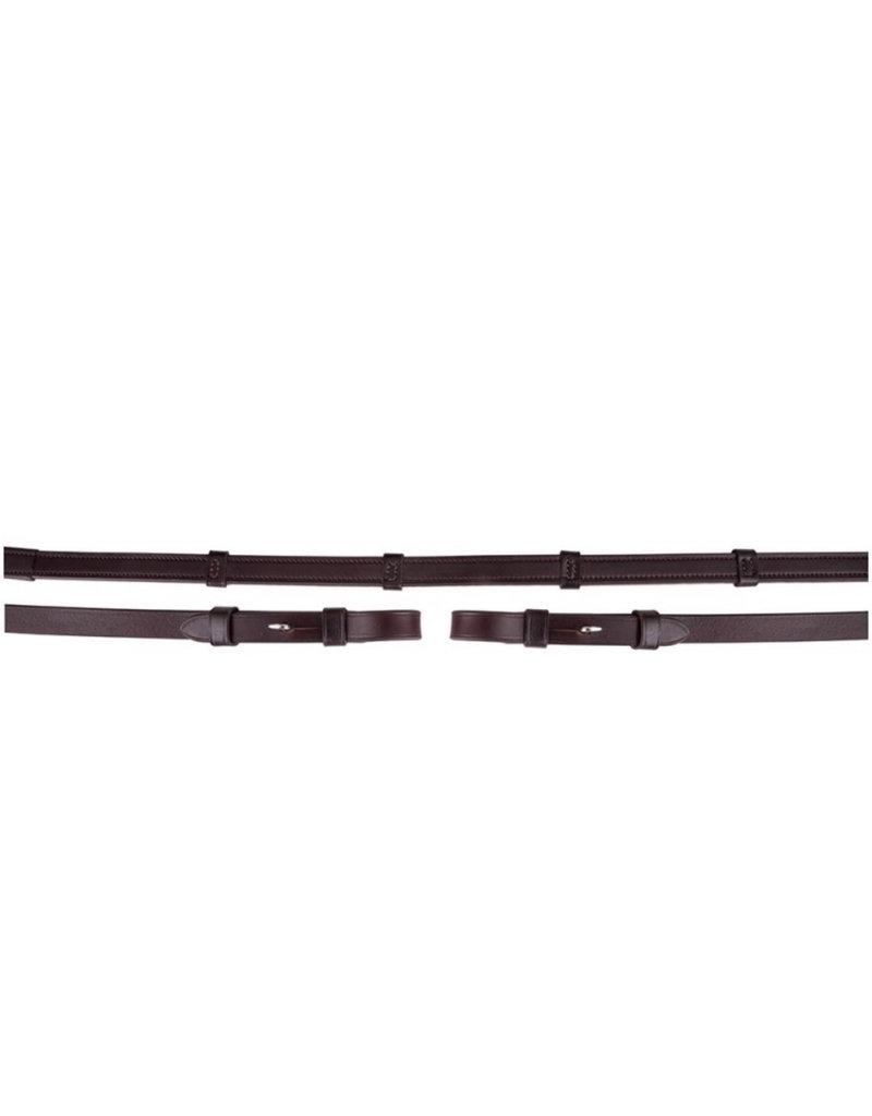 BR Rein BR leather / rubber + stops 16mm blind