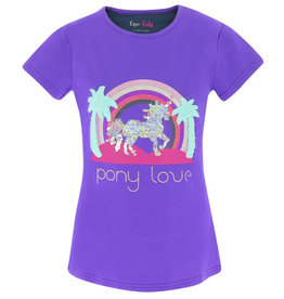 Equi-Theme T-shirt Judit paars