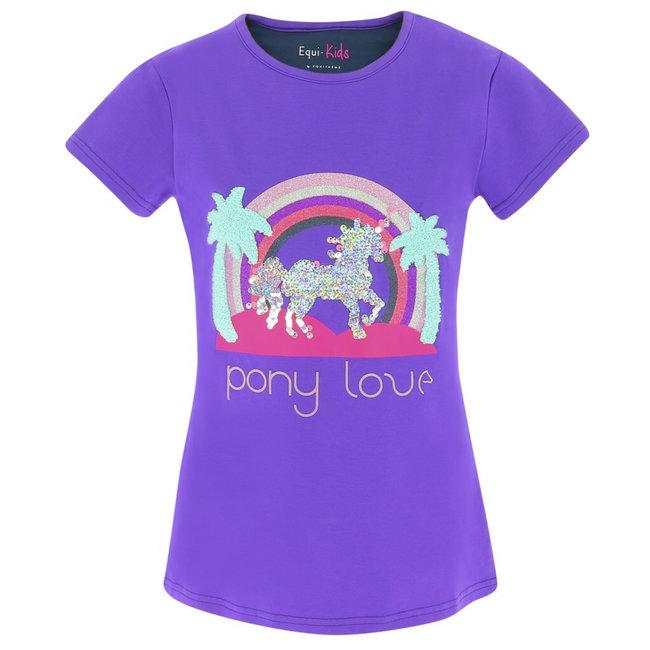 Equi-Theme T-shirt Judit paars