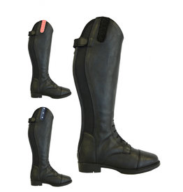Rider Pro Riding boots Tumba leather look with lace Black