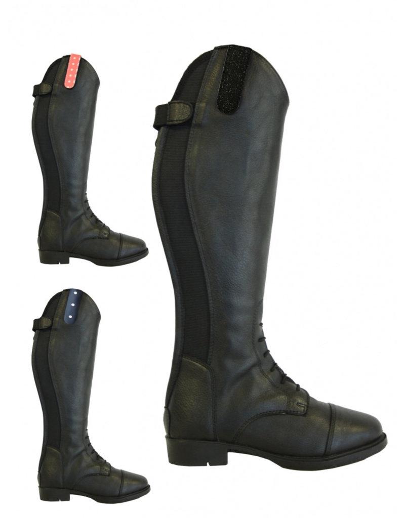 Rider Pro Rijlaars Tumba leatherlook met veter Black