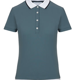 Cavalleria Toscana Polo shirt rib knit banded training s / s Blue (5900)