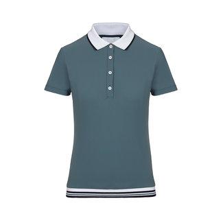 Cavalleria Toscana Poloshirt rib knit banded training s/s Blue (5900)