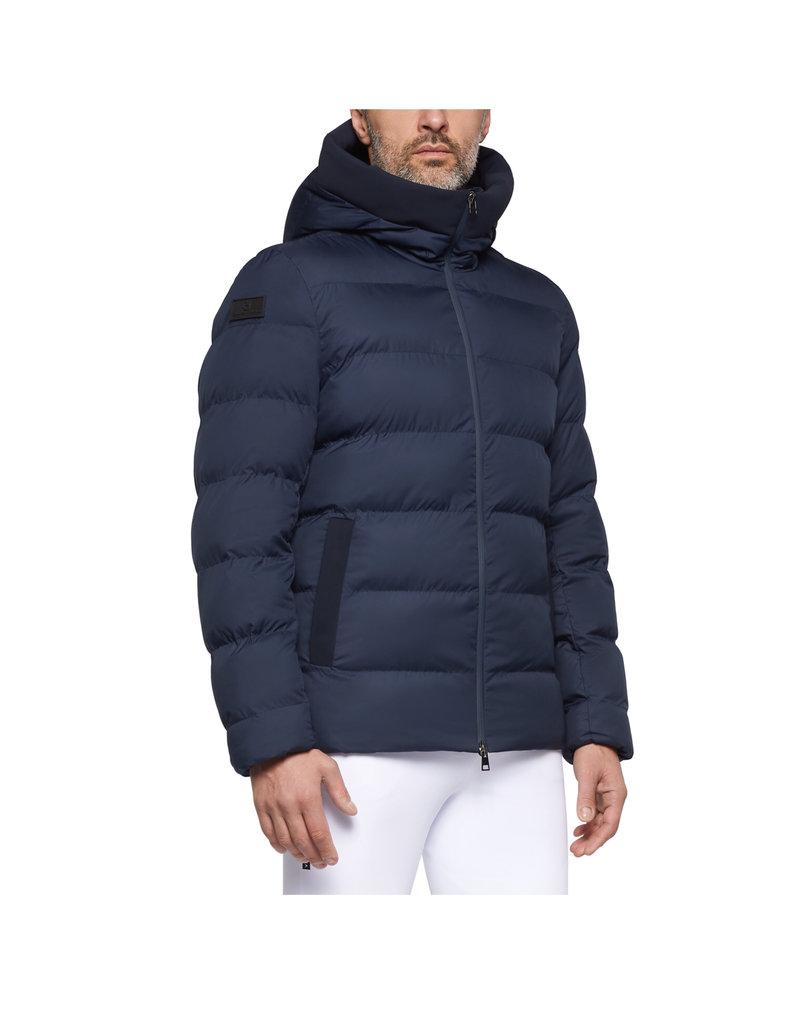 Cavalleria Toscana Quilted Nylon Hooded Puffer Fleece Pocket
