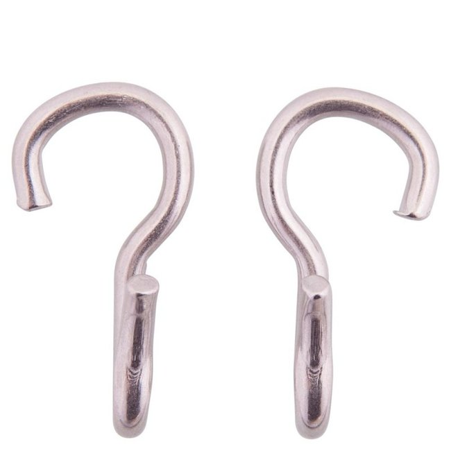 BR Stainless steel curb chain hooks per pair