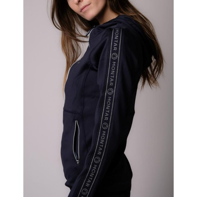 Montar Sweat jacket Ronne hoodie with logo tape