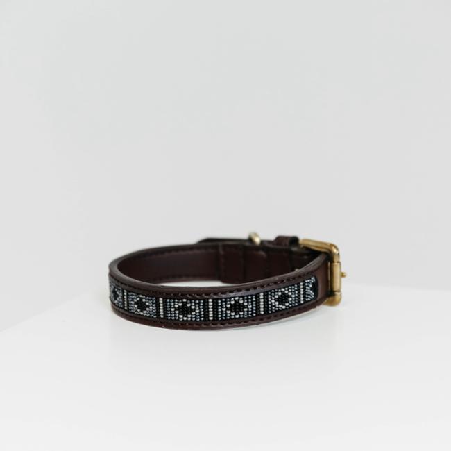 Hondenhalsband handgemaakte parels