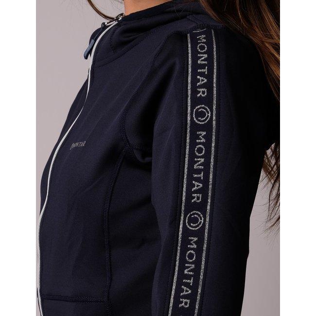 Montar Sweatjacket Kristina hoody met logotape