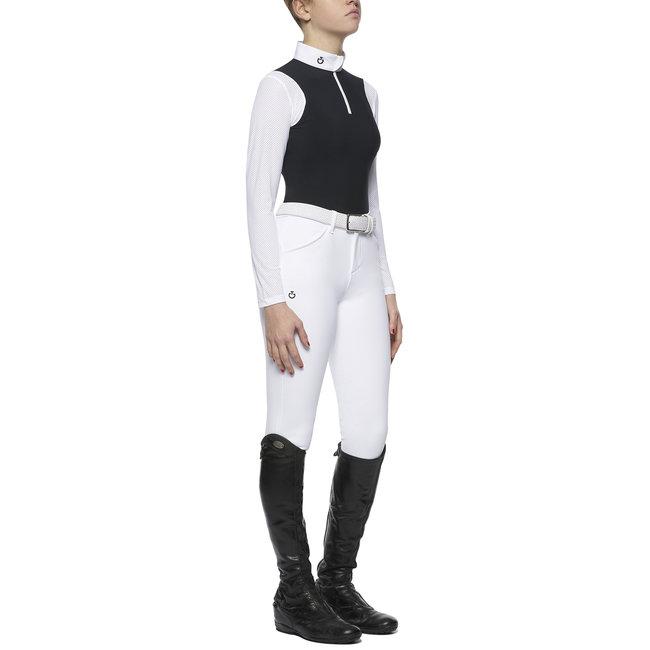 Cavalleria Toscana Wedstrijdshirt  jersey met perforated insert  l.sleeve