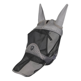 LeMieux Fly mask Gladiator with nose and ears Gray