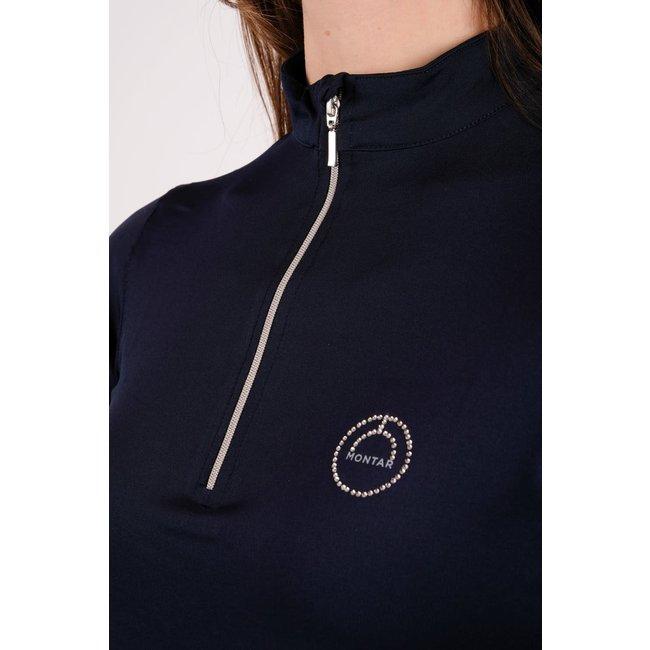 Montar Shirt Everly crystal  logo met lange mouwen