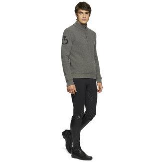 Cavalleria Toscana Sweater turtleneck eco marinos  knit half zip