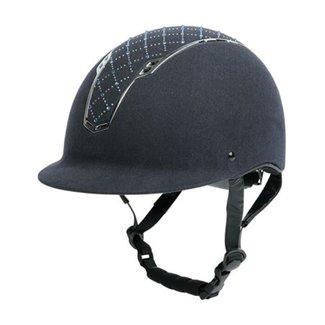 Harry's Horse Safety Helmet Centaur Argyle navy M/L