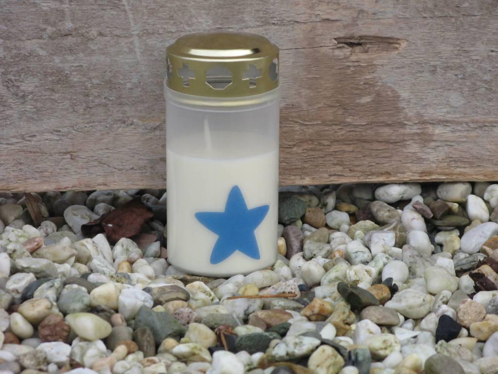 Noveenkaars blauwe ster