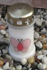 Noveenkaars roze vlinder