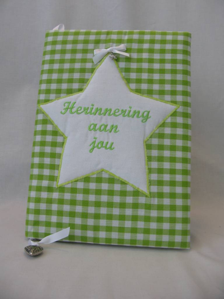 Herinneringsboek groen ruit
