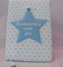 Herinneringsboek blauw ster