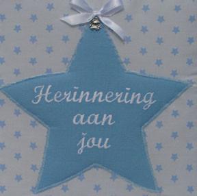 Herinneringsboek ster blauw