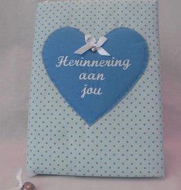 Herinneringsboek stip blauw