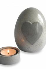 Urn met grijs hart