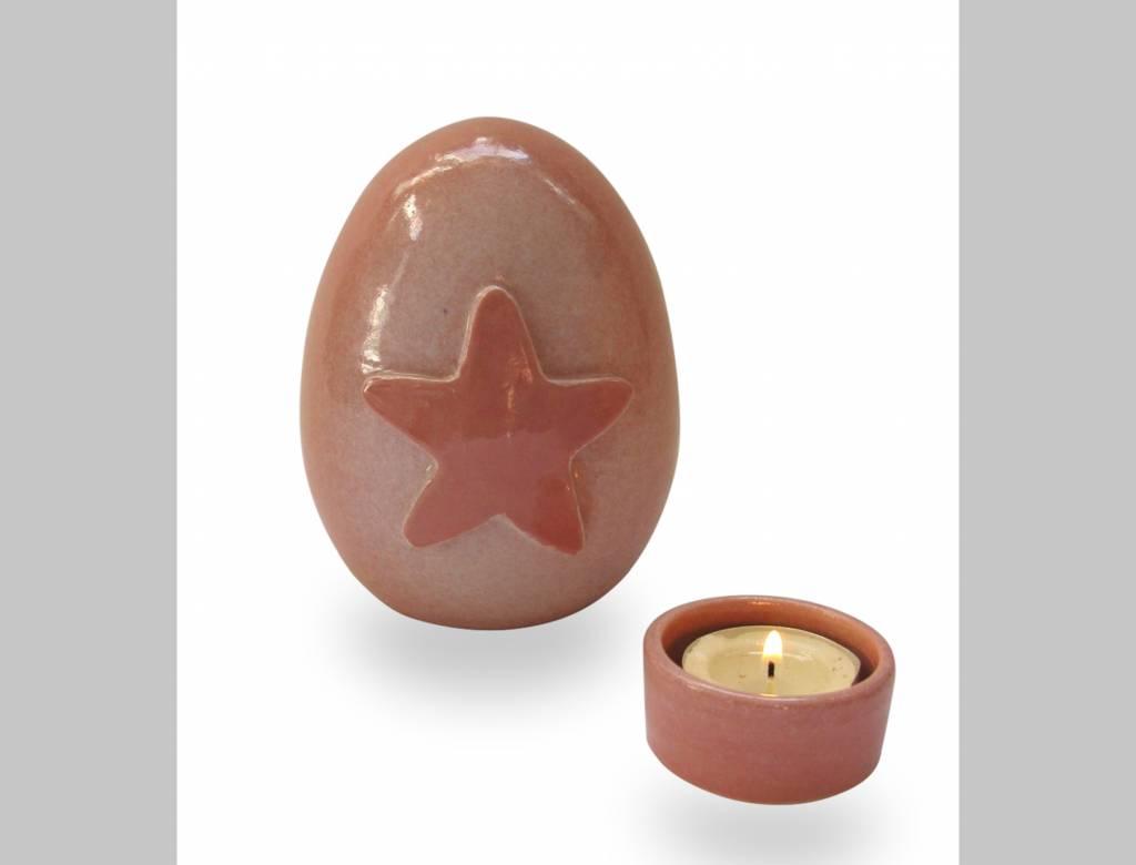 Urn met roze ster (nw)