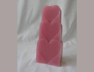 Kaars harten roze