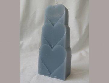 Kaars harten blauw