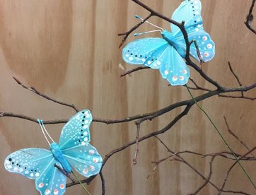 Vlindertje - Lichtblauw