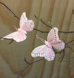 Vlindertjes - Roze