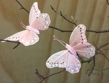 Vlindertje - Roze