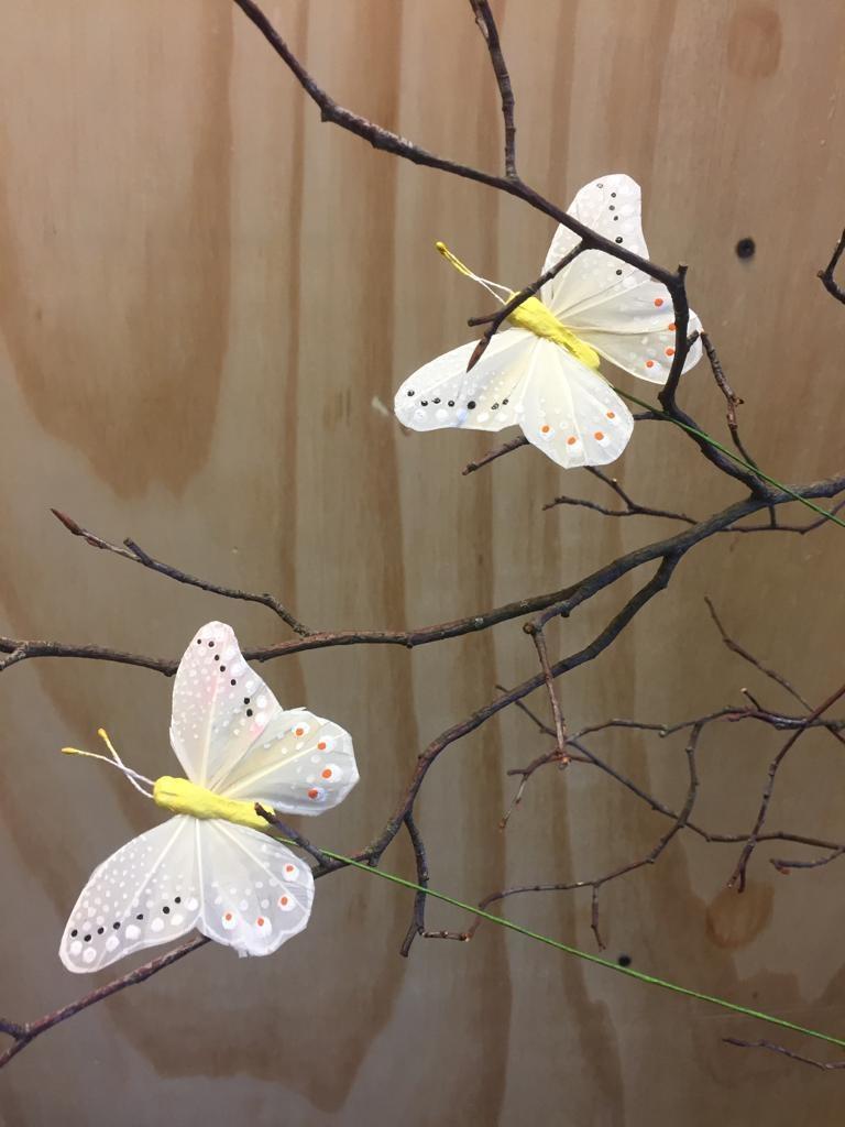 Vlindertje - Lichtgeel