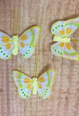 Vlindertjes - Geel per 3