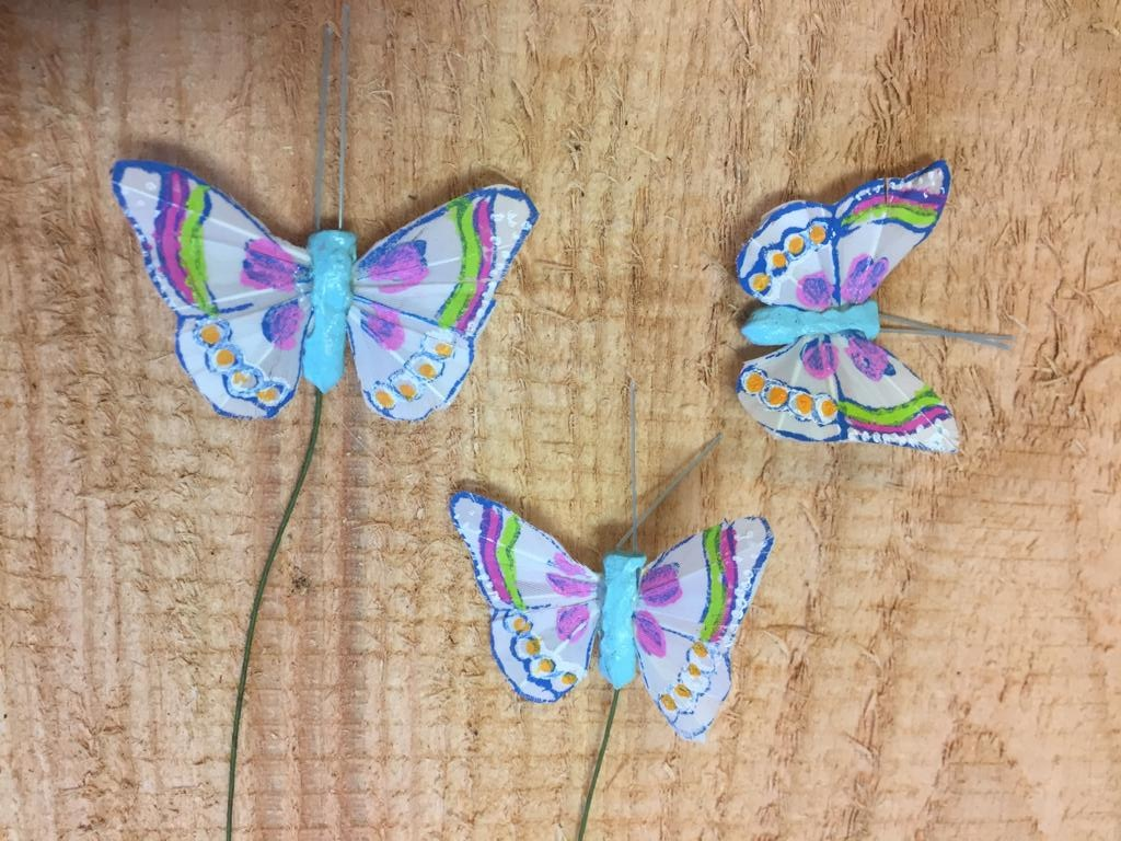 Vlindertjes - Blauw per 3
