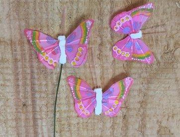 Vlindertjes - Lila per 3 stuks