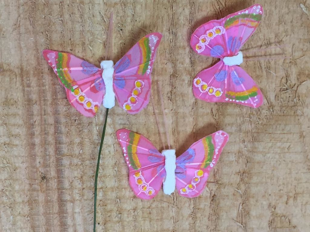 Vlindertjes - Lila per 3