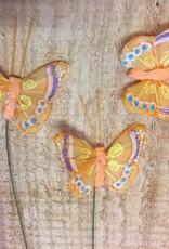 Vlindertjes - Oranje per 3