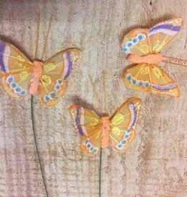 Vlindertjes - Oranje per 3 stuks